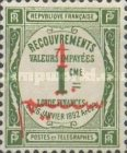 [French Postage Due Stamps Surcharged, type D]