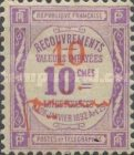 [French Postage Due Stamps Surcharged, type D1]