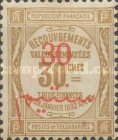 [French Postage Due Stamps Surcharged, type D2]