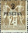 [French Postage Stamps Surcharged, Typ A10]