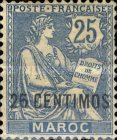 [French Postage Stamps Surcharged, type E3]