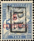 [French Postage Due Stamps Surcharged, type F]