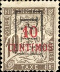 [French Postage Due Stamps Surcharged, type F1]