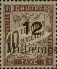 [French Postage Stamps Surcharged