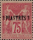 [French Postage Stamps Surcharged - Colored Paper, type A1]