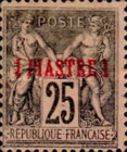 [French Postage Stamp No.81 Surcharged in Red, type A3]