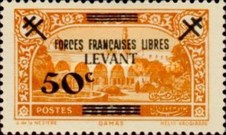 [Syrian & Lebanon Postage Stamps Surcharged, Typ I]