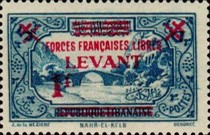 [Syrian & Lebanon Postage Stamps Surcharged, type J]