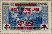 [Syrian & Lebanon Postage Stamps Surcharged, type K]