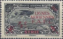 [Airmail - Syrian Airmail Stamps Surcharged, type L]