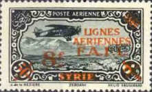 [Airmail - Syrian Airmail Stamps Surcharged, type L2]