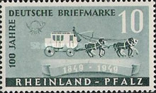 [The 100th Anniversary of the First German Stamp, type AN]