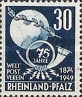 [The 75th Anniversary of the Universal Postal Union, type AP1]