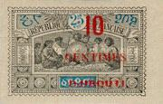 """[Obock Postage Stamps Overprinted """"DJIBOUTI"""" and Surcharged Value, type Q1]"""