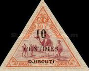"""[Obock Postage Stamps Overprinted """"DJIBOUTI"""" and Surcharged Value, type Q3]"""