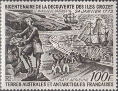[Airmail - The 200th Anniversary of Discovery of Crozet Islands and Kerguelen, type BP]