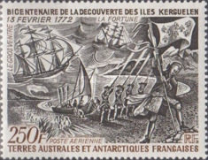 [Airmail - The 200th Anniversary of Discovery of Crozet Islands and Kerguelen, type BS]