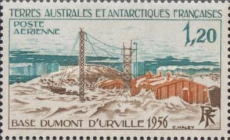 [Airmail - The 20th Anniversary of Dumont d'Urville Base, Adelie Land, type CQ]