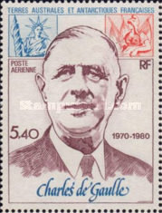 [Airmail - The 10th Anniversary of the Death of Charles de Gaulle, 1890-1970, type EJ]