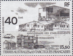 [Airmail - The 40th Anniversary of Establishment of Permanent Antarctic Bases, type IA]