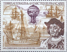 [Airmail - The 500th Anniversary of Discovery of America by Columbus, type JN]