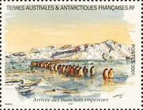 [Adelie Land - Aquarelle Paintings by Serge Marko, Booklet Stamps - No Value Expressed (5.20Fr/0.80€), type QD]