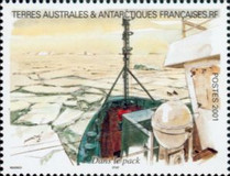 [Adelie Land - Aquarelle Paintings by Serge Marko, Booklet Stamps - No Value Expressed (5.20Fr/0.80€), type QF]