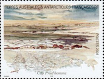 [Adelie Land - Aquarelle Paintings by Serge Marko, Booklet Stamps - No Value Expressed (5.20Fr/0.80€), type QI]