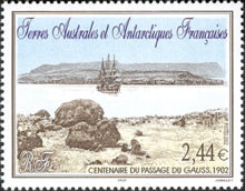 [The 100th Anniversary of the Visit of Guass, Survey Barquentine, to Kerguelen Islands, type QW]