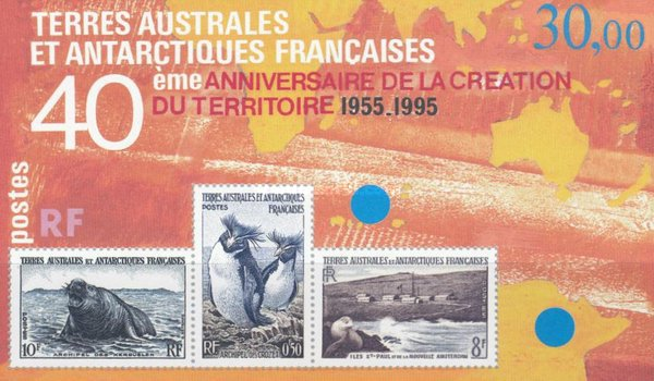 [The 40th Anniversary of French Southern and Antarctic Lands - Stamps of 1956 Reprinted, type XLG]