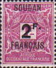 [Not Issued Stamps from Upper Senegal and Niger Overprinted & Surcharged, type B]