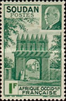 [Entry to the Residency at Djenné & Marshal Petain, 1856-1951, type AB]
