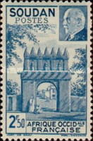 [Entry to the Residency at Djenné & Marshal Petain, 1856-1951, type AB1]