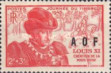 [Not Issed French Stamp Overprinted, type D]