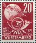 [The 75th Anniversary of the Universal Postal Union, Typ R]