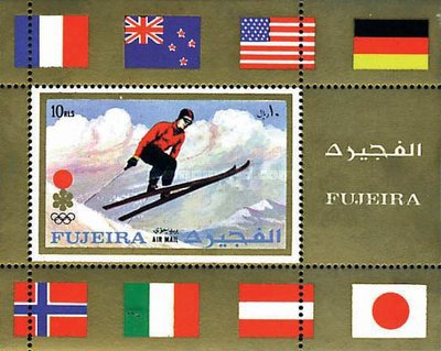 [Airmail - Olympic Winter Games 1924-1972 - Posters, Typ ]