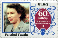 [The 60th Anniversary of the Birth of Queen Elizabeth II, Typ M]