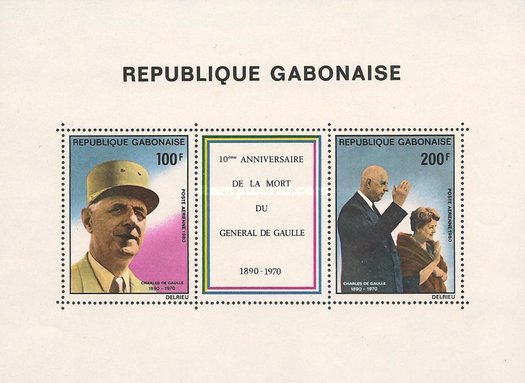 [Airmail - The 10th Anniversary of the Death of Charles de Gaulle, 1890-1970, type ]