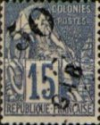 [French Colonies Postage Stamps Handstamp Overprinted