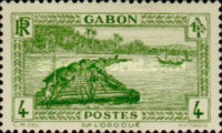 [Colonial Drawings - Timber Raft on the Ogowe River, type AE2]