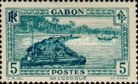 [Colonial Drawings - Timber Raft on the Ogowe River, type AE3]