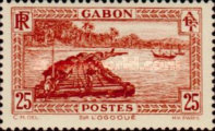 [Colonial Drawings - Timber Raft on the Ogowe River, type AE7]