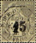 [French Colonies Postage Stamps Surcharged, type B1]