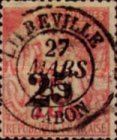[French Colonies Postage Stamps Surcharged, type B4]