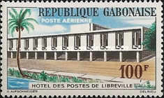 [Airmail - The 100th Anniversary of Gabon Postal Services, type BE]