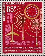 [Airmail - African and Malagasy Posts and Telecommunications Unio, type BF]