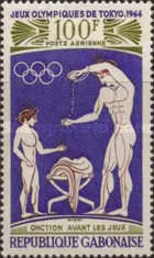 [Airmail - Olympic Games - Tokyo, Japan, type BY]