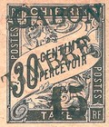 """[French Colonies Postage Due Stamps Overprinted """"GABON - TIMBRE"""" and Surcharged, type C1]"""