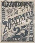 """[French Colonies Postage Due Stamps Overprinted """"GABON - TIMBRE"""" and Surcharged, type C2]"""