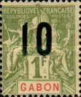 [Issues of 1904-1907 Surcharged - Distance between 0 & 5: 1½mm, Distance between 1 & 0: 2½mm, type L10]